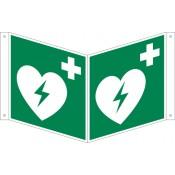 Nasenschild Defibrillator Langnachleuchtend