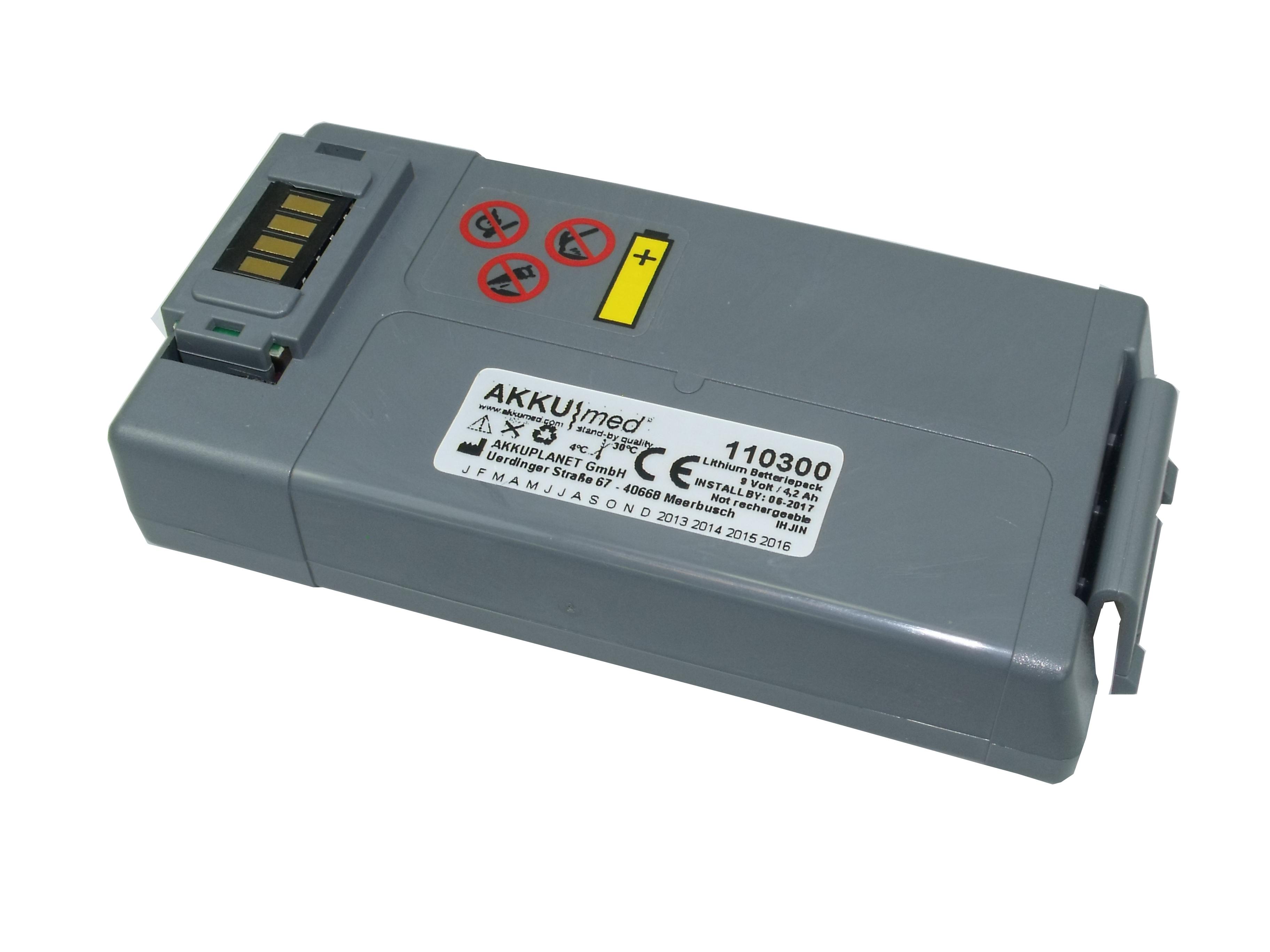 Langzeit-Einweg-Batterie für Philips HS1 und FRx , Nachbau