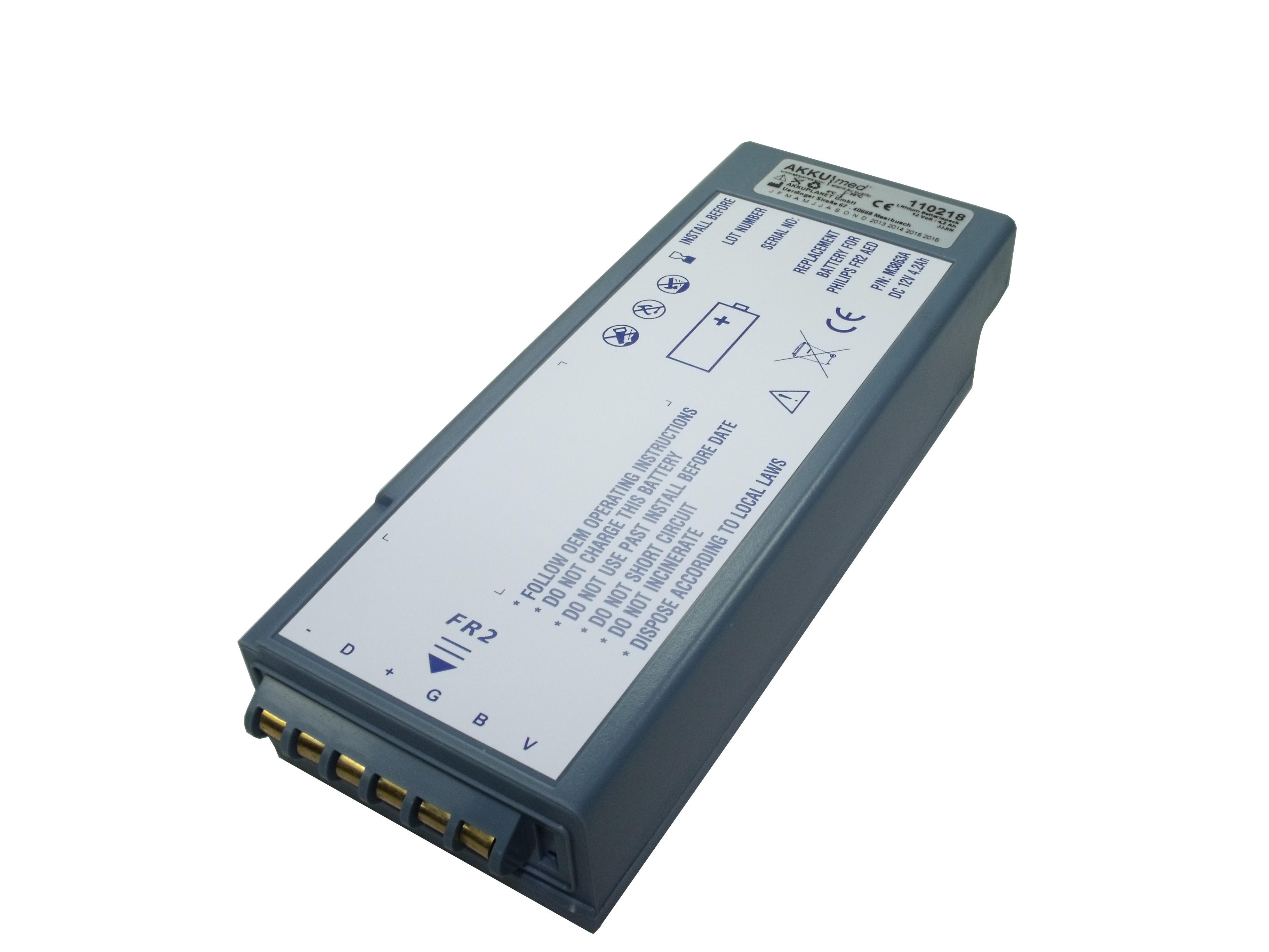 Langzeit-Einweg-Batterie für Philips FR2, Nachbau